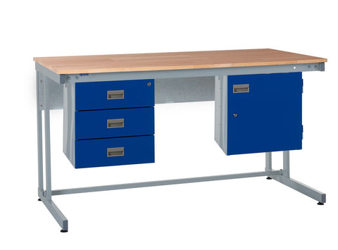 Cantilever Workbench and Accessories Kit B - Wood Worktop