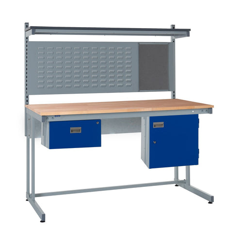 Cantilever Workbench and Accessories Kit C - Wood Worktop