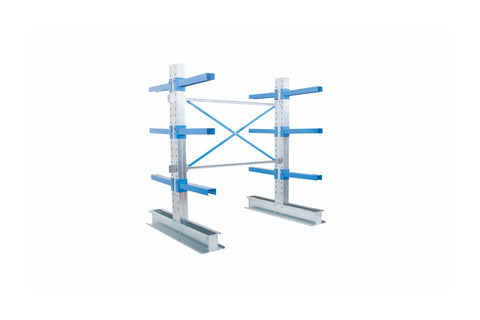 Cantilever Racking with Parallel Arms - Double Sided 1000 wide double