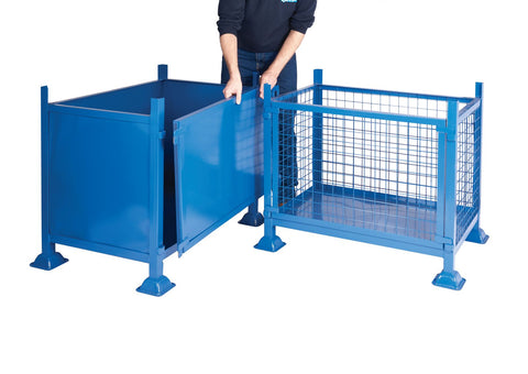 Detachable side metal stillage