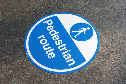 430mm Self Adhesive Floor Sign - Pedestrian Route