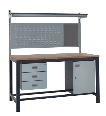 Heavy Duty Workbench and Accessories Kit D - Wood Worktop