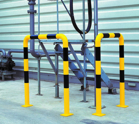 hoop barrier 120cm high and 100 cm wide in use
