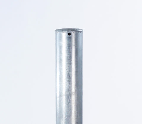 Plain Galvanised Steel Bollard - Top