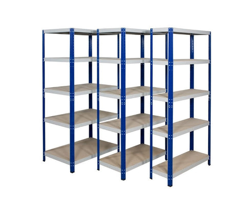 Quick-Click metal shelving