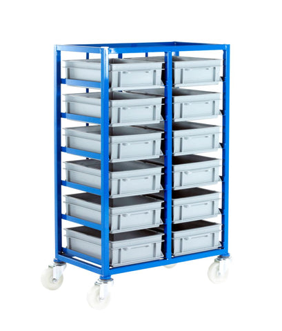 Small Parts Storage Mobile Tray Rack - CT216