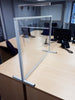 freestanding table top workstation divider on desk