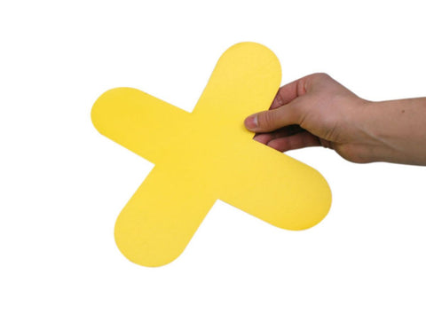 Self Adhesive Floor Markers - 'X' (Pack of 10)