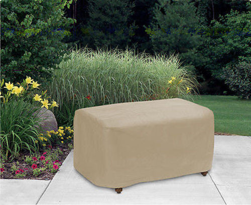 "Patio Furniture Covers Outdoor Waterproof Ottoman Cover (25""L,32""W,18"" H)"