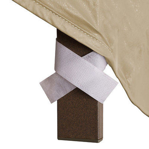 "Patio Furniture Covers Outdoor Waterproof Ottoman Cover (25""L,32""W,18""H)"