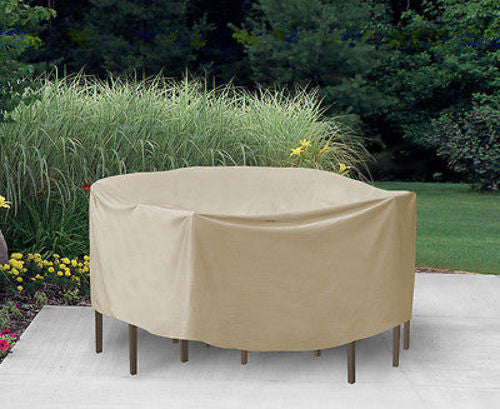 "Patio Furniture Covers Outdoor Waterproof Round Table&Chairs (108"" D,30""H)"