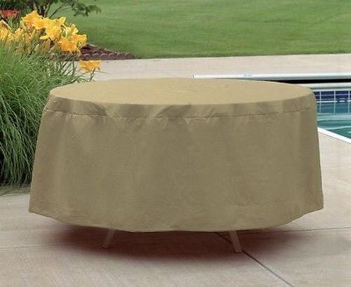 ... Patio Furniture Covers Outdoor Waterproof Round Table Cover (54u201dD,20u201dH  ...