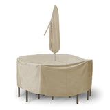 "Round Table and Chairs Combo Cover (108"" D x 30"" H)"