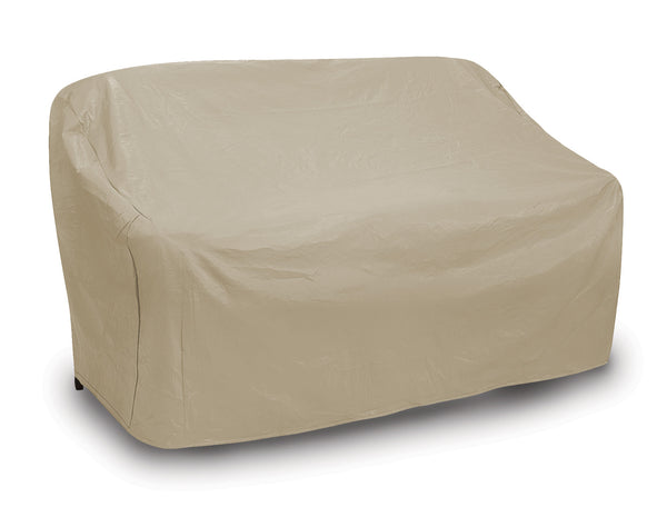 "Patio Oversize Two Seat Wicker Sofa Cover (60"" L x 41"" W x 41"" H)"