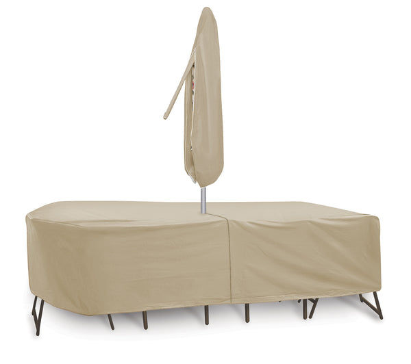 "Oval/Rectangular Table & Chair Combo Cover (135"" L x 80"" W x 30"" H)"