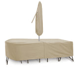 "Oval/Rectangular Table & Chair Combo Cover (120"" L x 60"" W x 30"" H)"