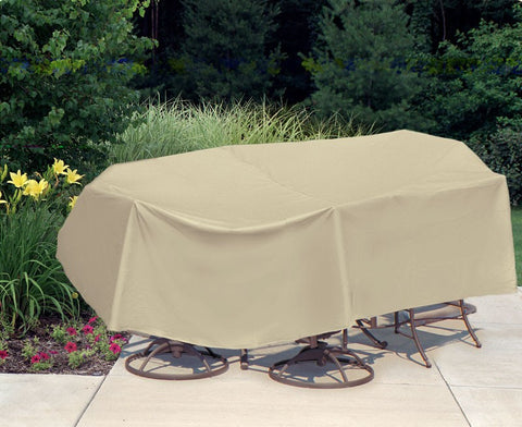 "Oval/Rectangular Table & Chair Combo Cover (108"" L x 60"" W x 30"" H)"
