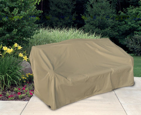 "Patio Two Seat Wicker Sofa Cover (58"" L x 35"" W x 35"" H)"