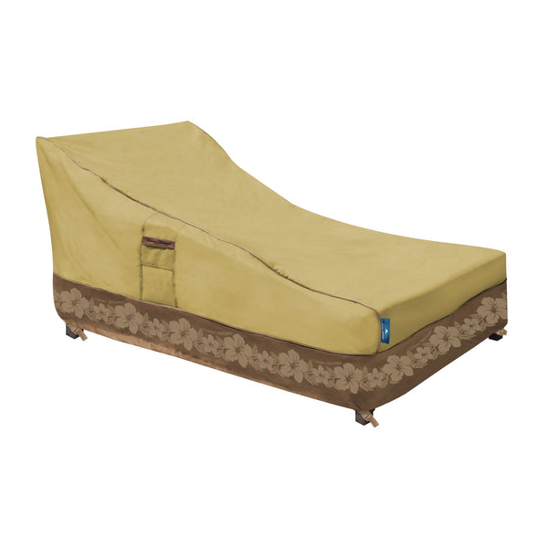 Tommy Bahama Large Patio Chaise Lounge Cover, Tan/Brown