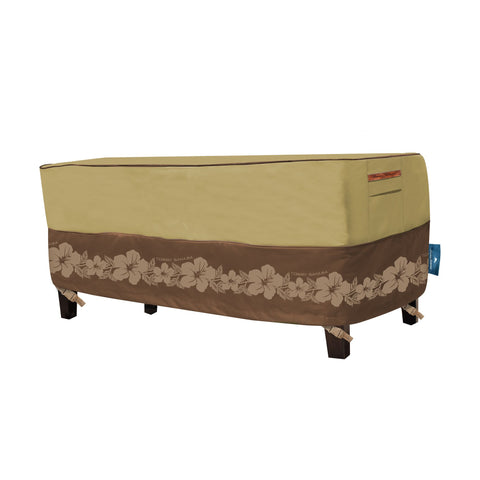Tommy Bahama Rectangular Patio Coffee Table Cover, Tan/Brown