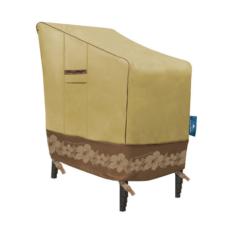Tommy Bahama Stackable (up to 6 Patio Chair Cover, Tan/Brown