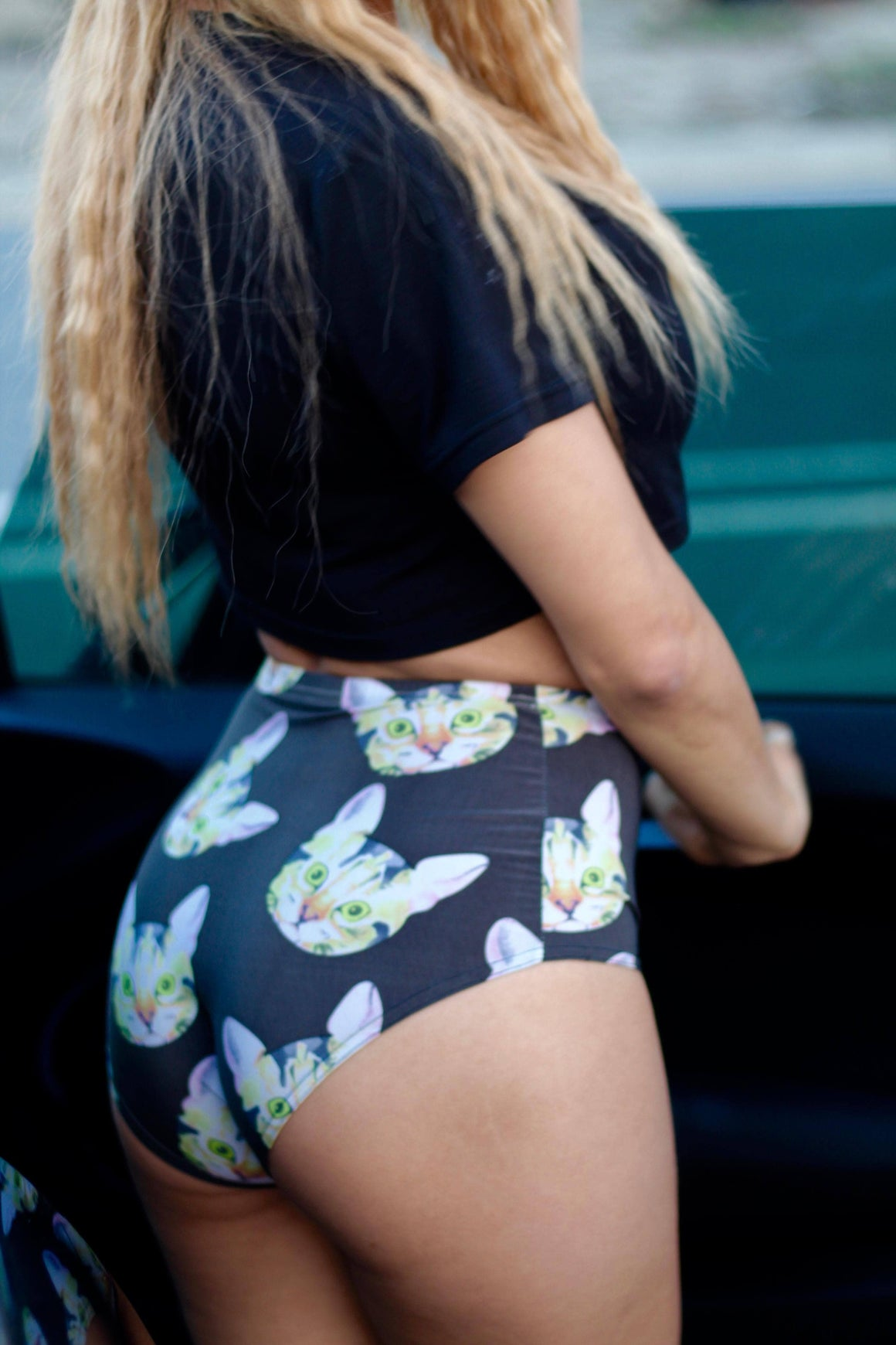 High-Waisted Kitty Cat Hot Shorts