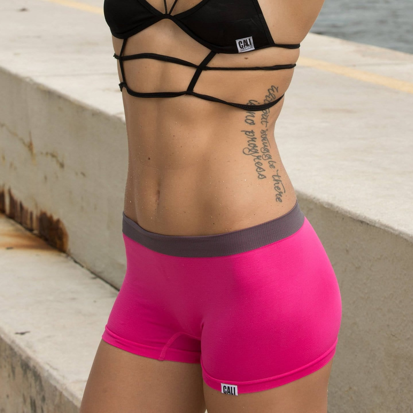 cali girl athletics - pink workout hot-shorts - Cali Diamond