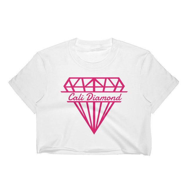 Cali Diamond Pink Diamond Logo Crop top - Cali Diamond