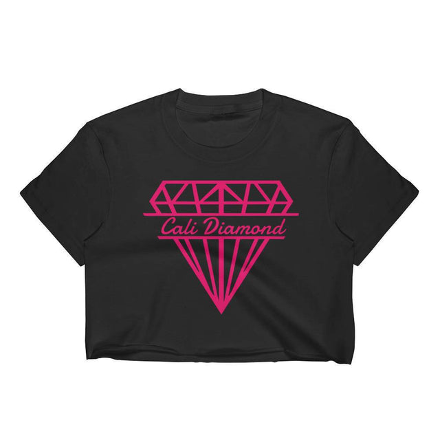 Cali Diamond Logo Graphic Cropped Tee - Cali Diamond