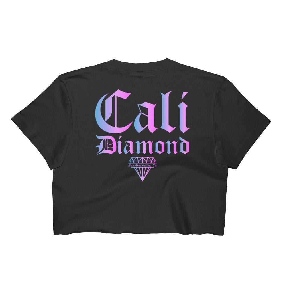 Pink and Blue Ombre CD Women's Crop Top - Cali Diamond