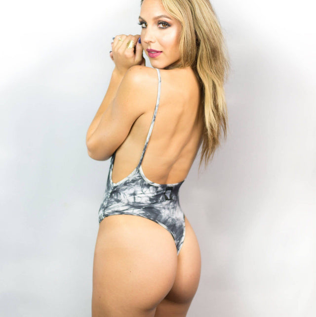 Tie-dye Low Back Thong Bodysuit - Cali Diamond