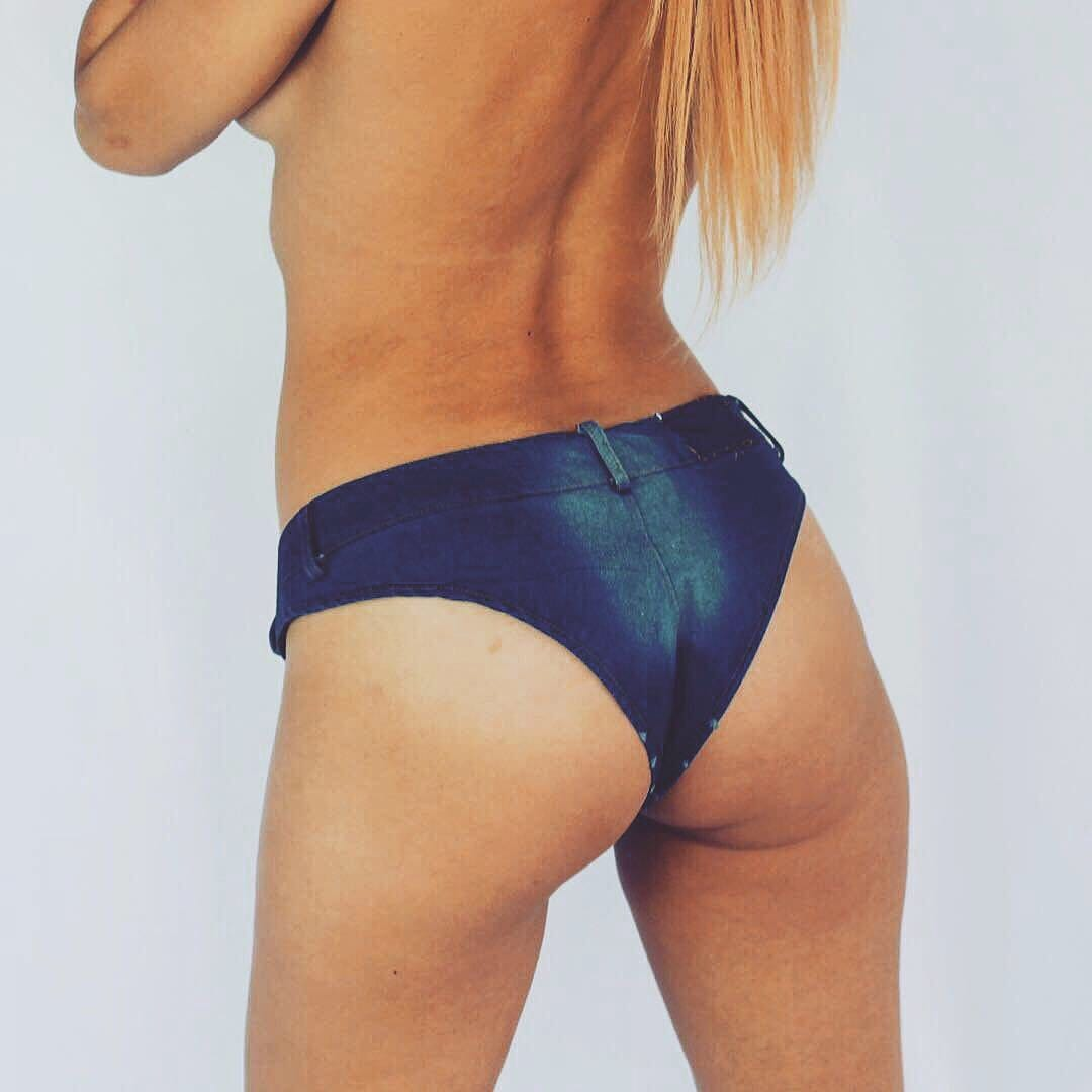 Acid washed Turquoise hand-dyed sexy booty shorts - Cali Diamond