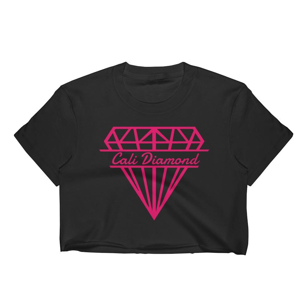 Cali pink Logo Women's Crop Top -crop-tops - Cali Diamond