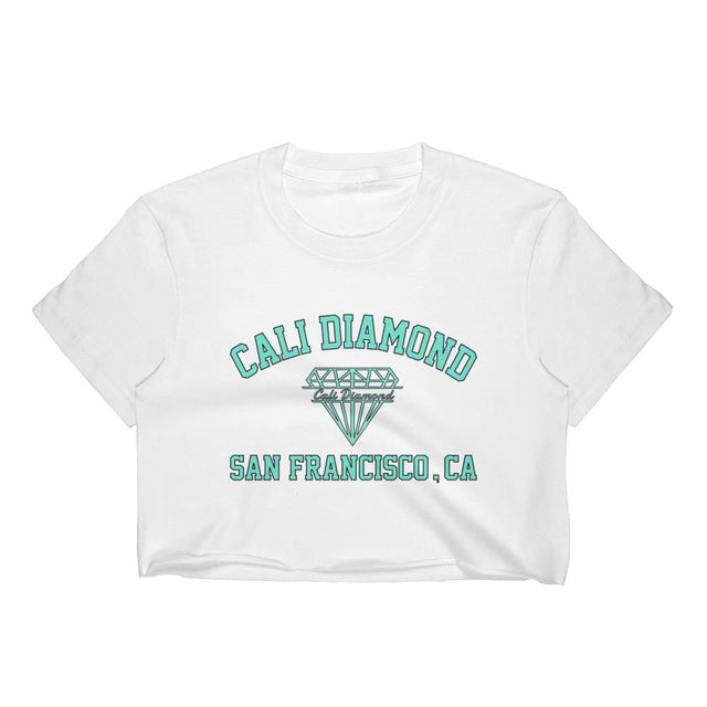 Cali Diamond SF Women's Crop Top Graphic Tee - Cali Diamond