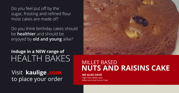 Bangalore Health Cake Millet Based