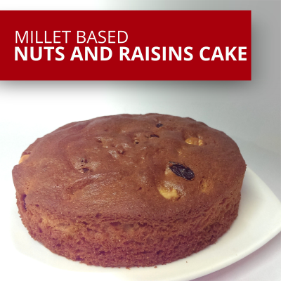 Millet Based Nuts and Raisins Cake