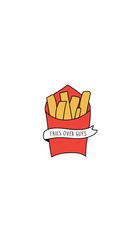 Fries Over Guys Background
