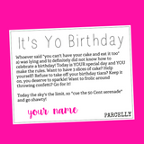 It's Yo Birthday , Gift Parcel - Parcelly, Parcelly - 2