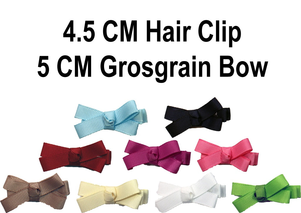 MO Hair Clip With 5 CM Grosgrain Bow
