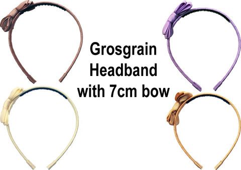 MO Grosgrain Headband With 7 CM Bow