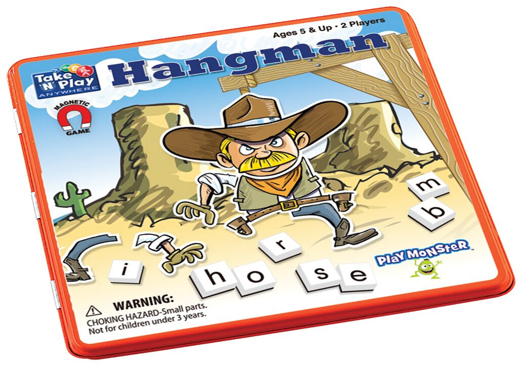 PM Magnetic Travel Games Hangman