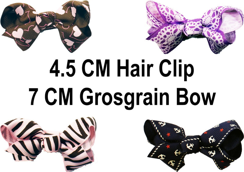 (Final Sale) MO Hair Clip With 7 CM Grosgrain Bow