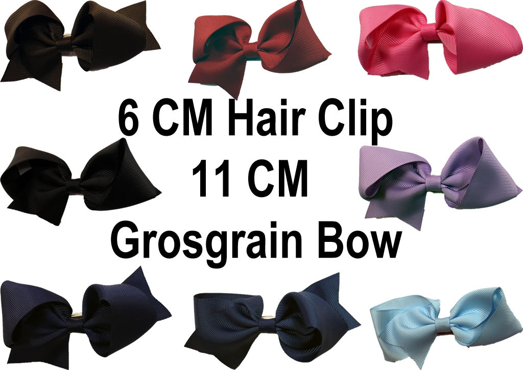 MO Hair Clip With 11 CM Grosgrain Bow