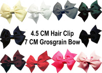 MO Hair Clip With 7 CM Grosgrain Bow