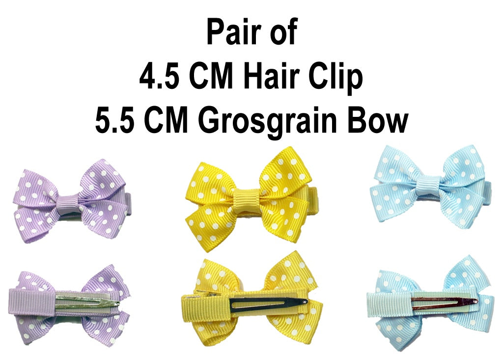 MO Hair Clip With 5.5 CM Grosgrain Bow