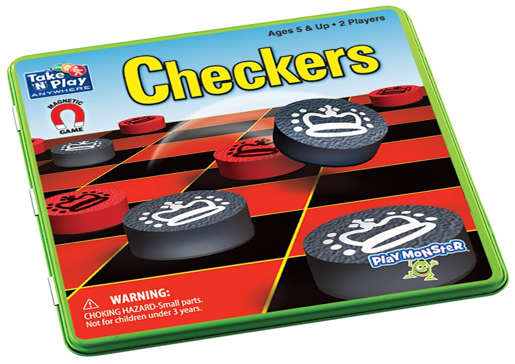 PM Magnetic Travel Games Checkers