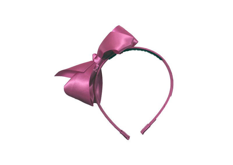 (Final Sale) MO Polyester Headband With 11.5 CM Bow