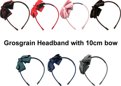 MO Grosgrain Headband With 10 CM Bow
