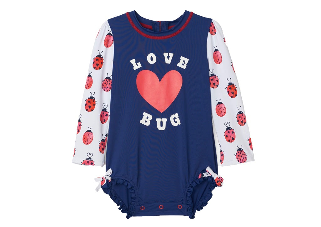 (Final Sale) Hatley Love Bugs Baby Rashguard Swimsuit