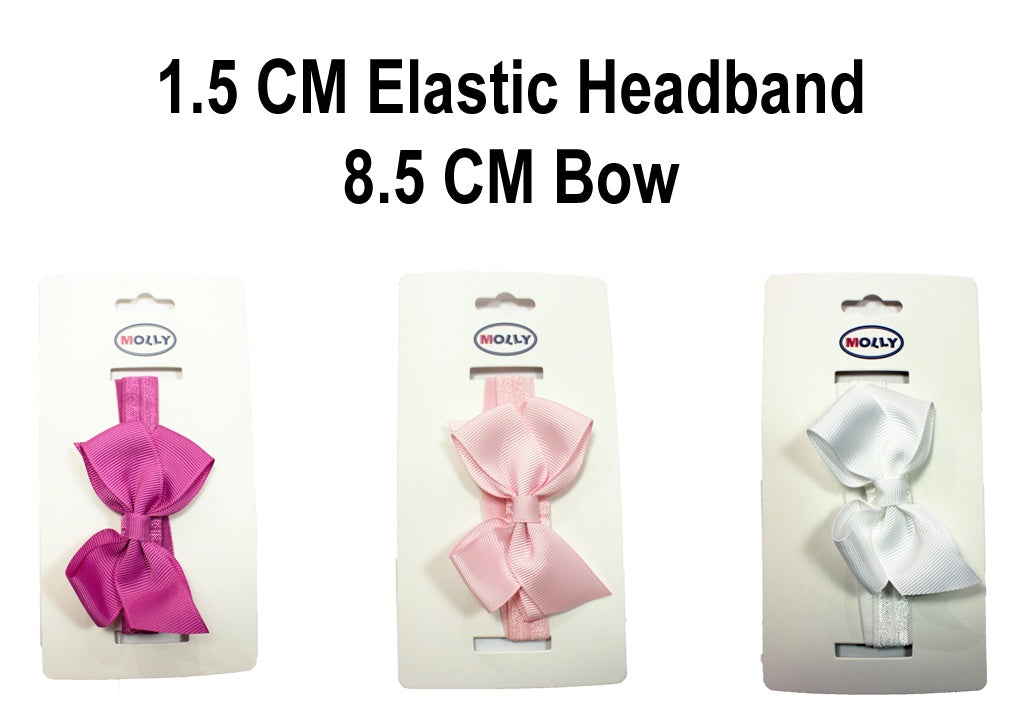 MO Elastic Headband With 8.5 CM Bow